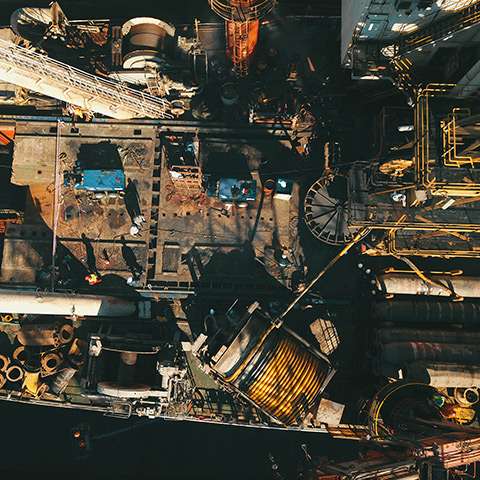 Aerial still photography. Heavy Engineering.